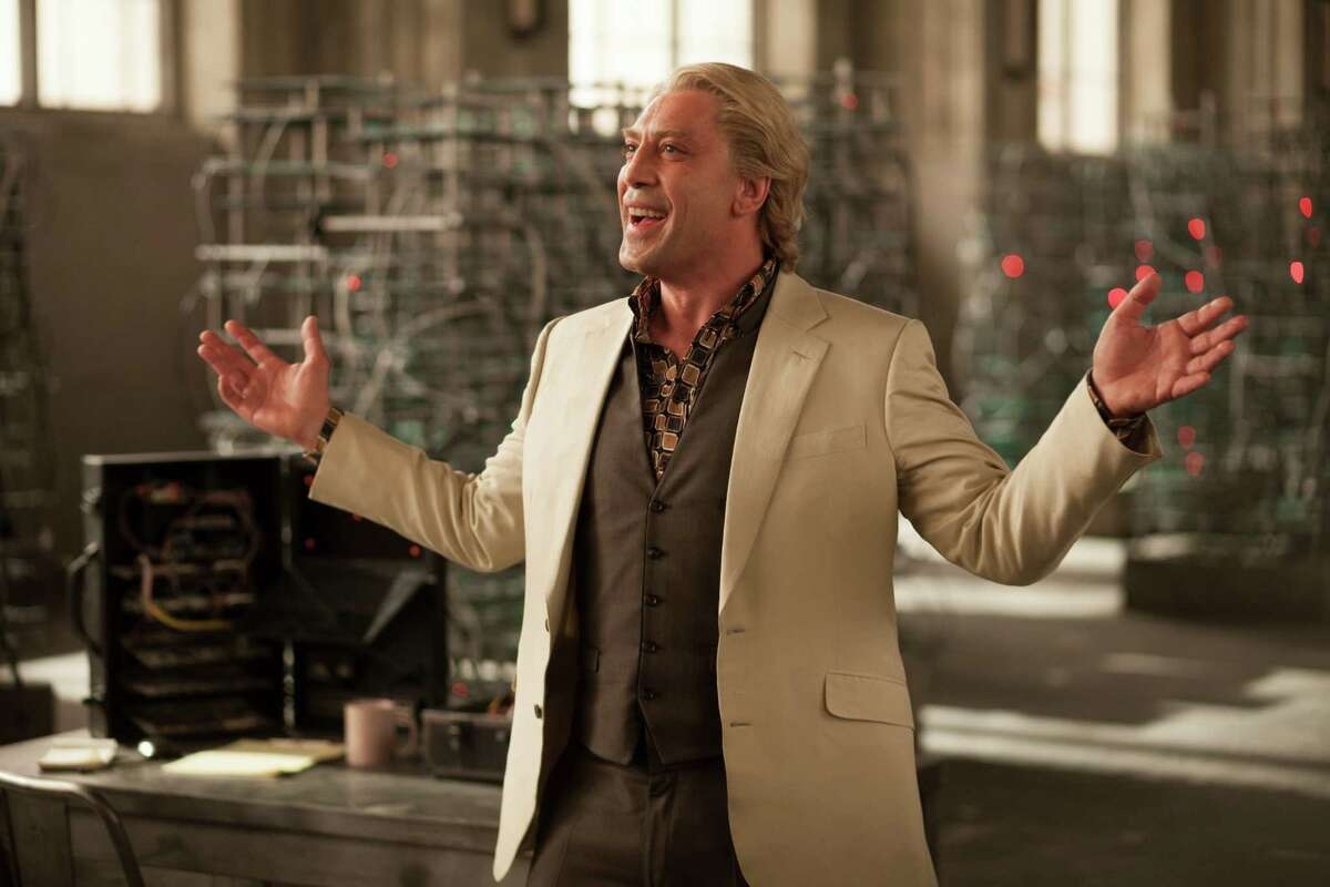Javier Bardem is a blond villian with revenge on his mind in