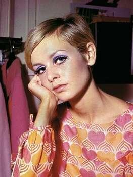The Look: Purple Eyeshadow  Twiggy, 1967  Photo: AP Photo