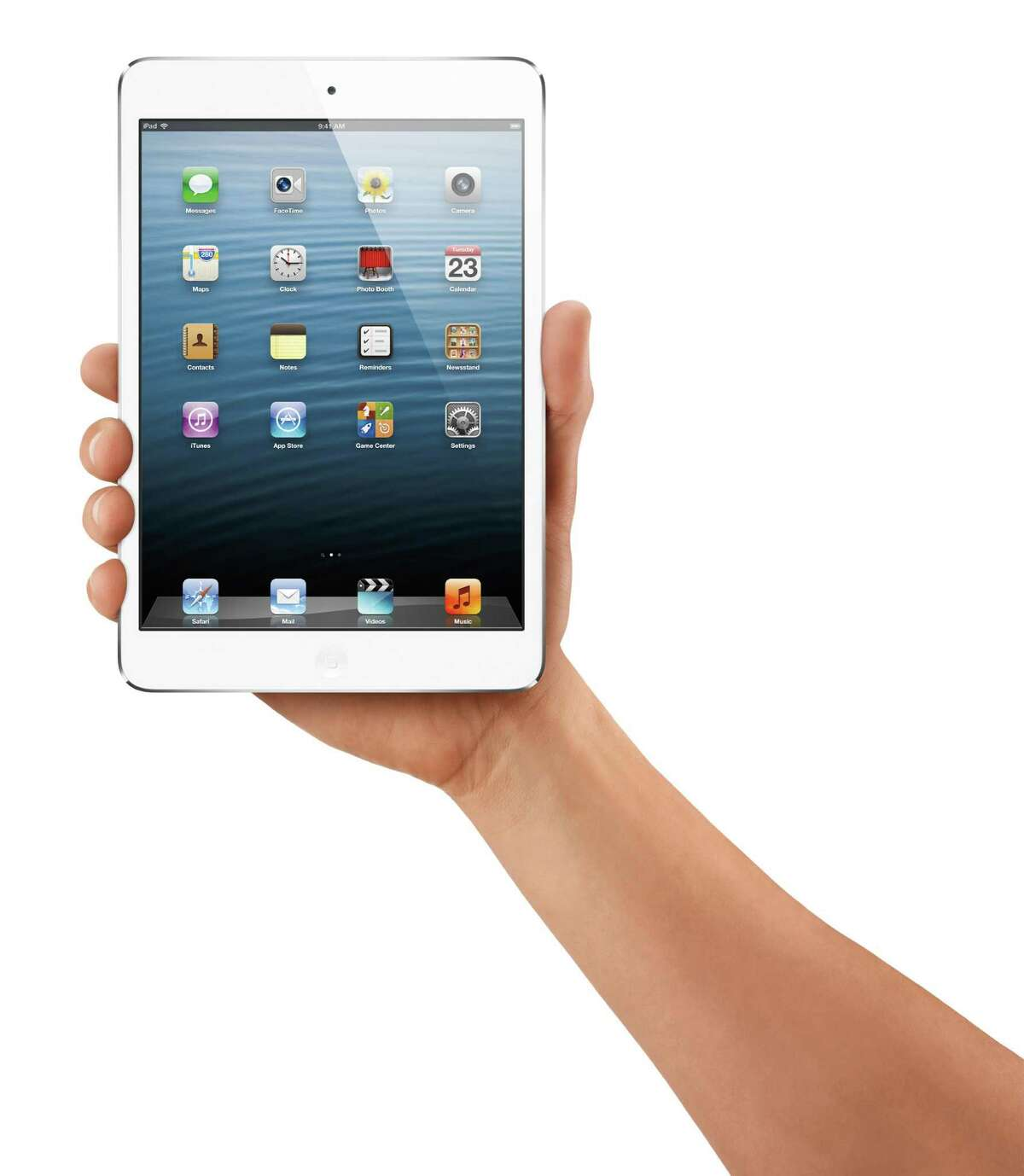 The Apple Inc. iPad mini is seen in this undated handout photo released to the media on Tuesday, Oct. 23, 2012. The device boasts a 7.9-inch screen diagonally, compared with the 9.7-inch screen of the current iPad. Source: Apple Inc. via Bloomberg