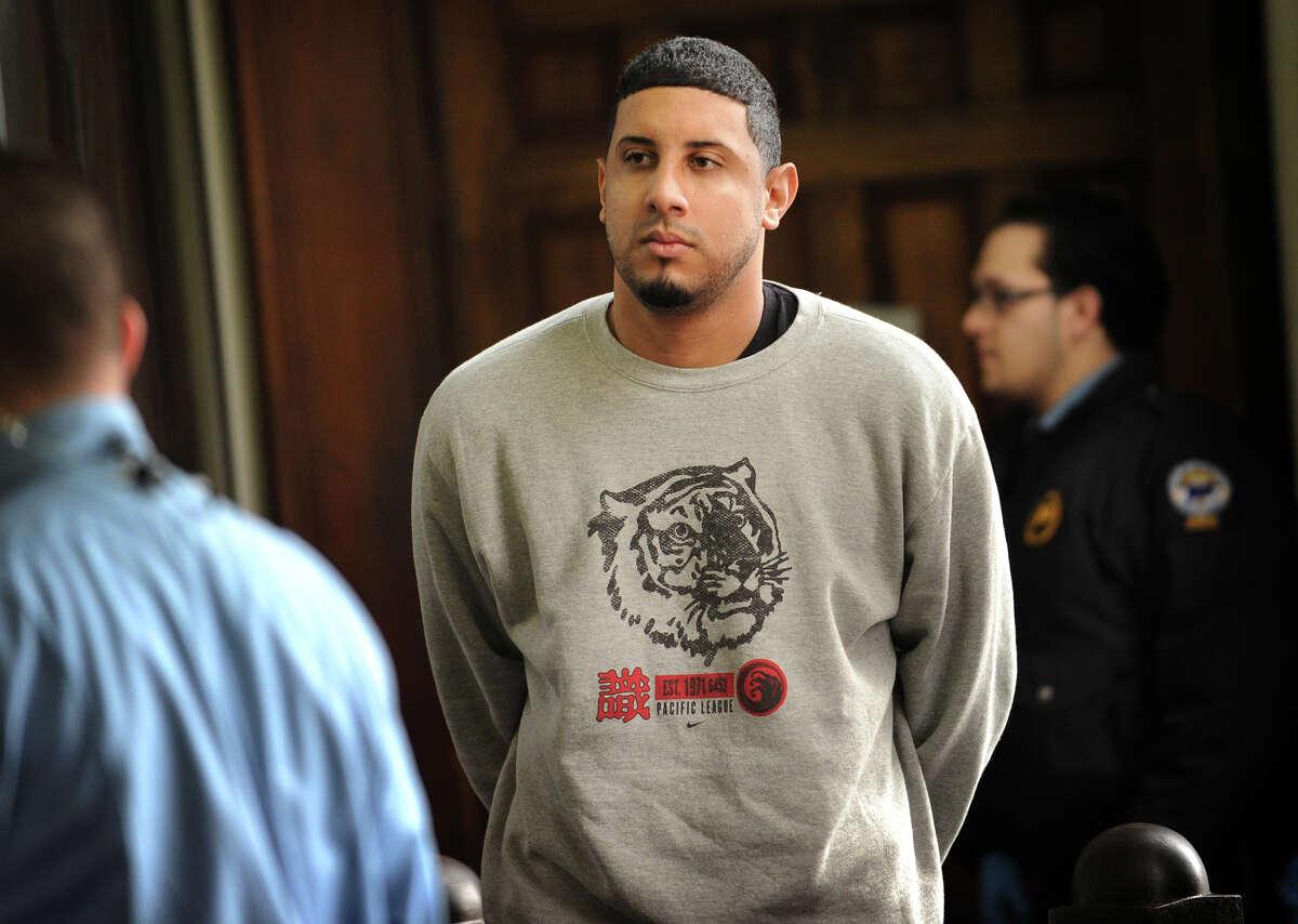Israel Gonzalez during his arraignment in Superior Court in Bridgeport on Tuesday, December 27, 2011.