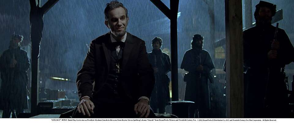 Daniel Day-Lewis stars as President Abraham Lincoln in this scene from director Steven Spielberg'