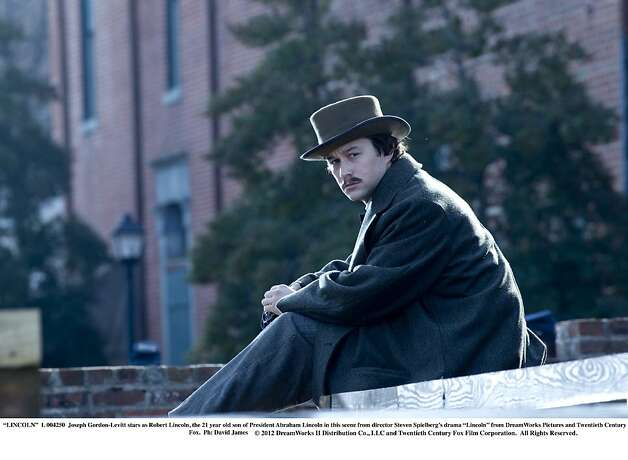 "Joseph Gordon-Levitt stars as Robert Lincoln, the 21 year old son of President Abraham Lincoln in this scene from director Steven Spielberg's drama ""Lincoln.""  Photo: David James, Touchstone Pictures"