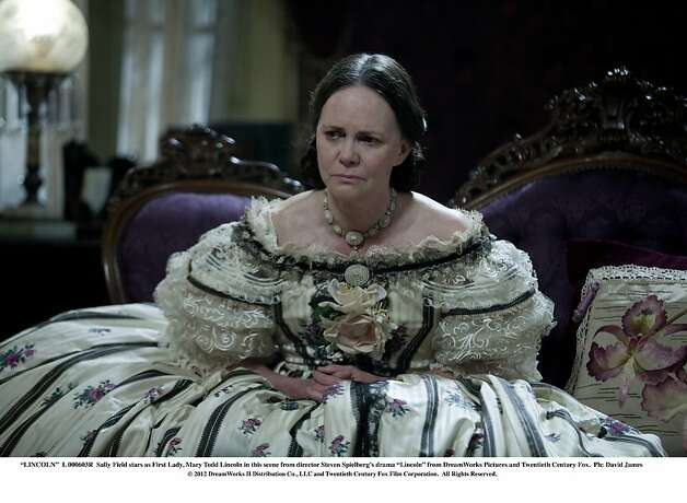 "In ""Lincoln,"" Sally Field plays the first lady, a woman 20 years younger than her. Photo: David James, Touchstone Pictures"