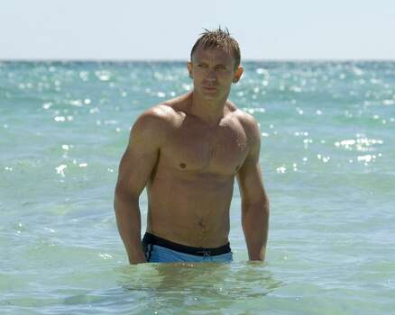Daniel Craig stepped out of his James Bond persona and somehow managed to keep his clothes on for the 2009 production of 'A Steady Rain,' which also starred Hugh 'Wolverine' Jackman. Craig and his wife, Rachel Weisz, starred in another Broadway play, 'Betrayal,' which wrapped up in January 2014. Photo: Sony Pictures