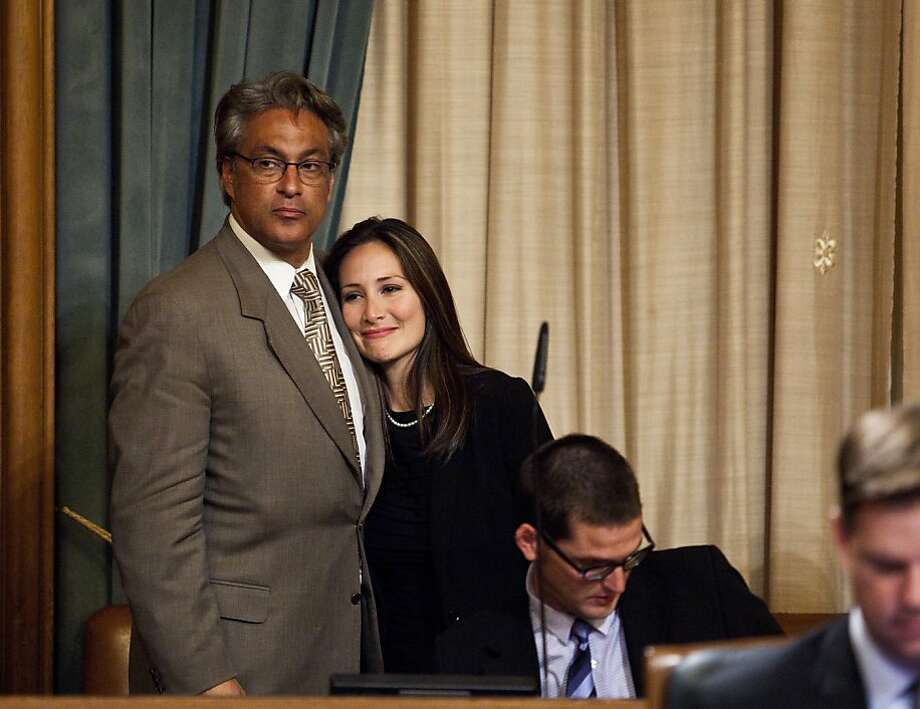 Mirkarimi and wife after the San Francisco supervisors meeting onTuesday, October 9, 2012. Photo: Jason Henry, Special To The Chronicle