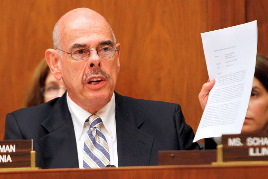 "House Oversight and Investigations subcommittee member Rep. Henry Waxman, D-Calif., holds up a memo on Capitol Hill in Washington, Friday, Oct. 14, 2011, during the subcommittee's hearing on ""Continuing Developments Regarding the Solyndra Loan Guarantee."" Waxman was reelected Tuesday, Nov. 6, 2012. (AP Photo/Jacquelyn Martin) Photo: Jacquelyn Martin, Associated Press / AP"