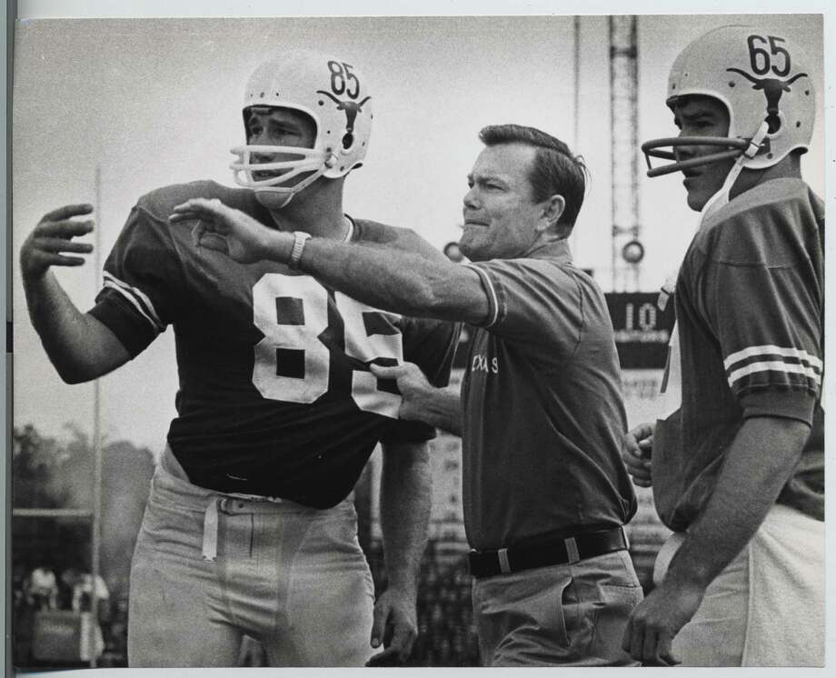 Before Alzheimer's took hold, Darrell Royal spent much of his later years relaxing at home; in 1966, he was starting to make his name as a coaching genius. Photo: Sam Pierson, HC Staff / Houston Chronicle
