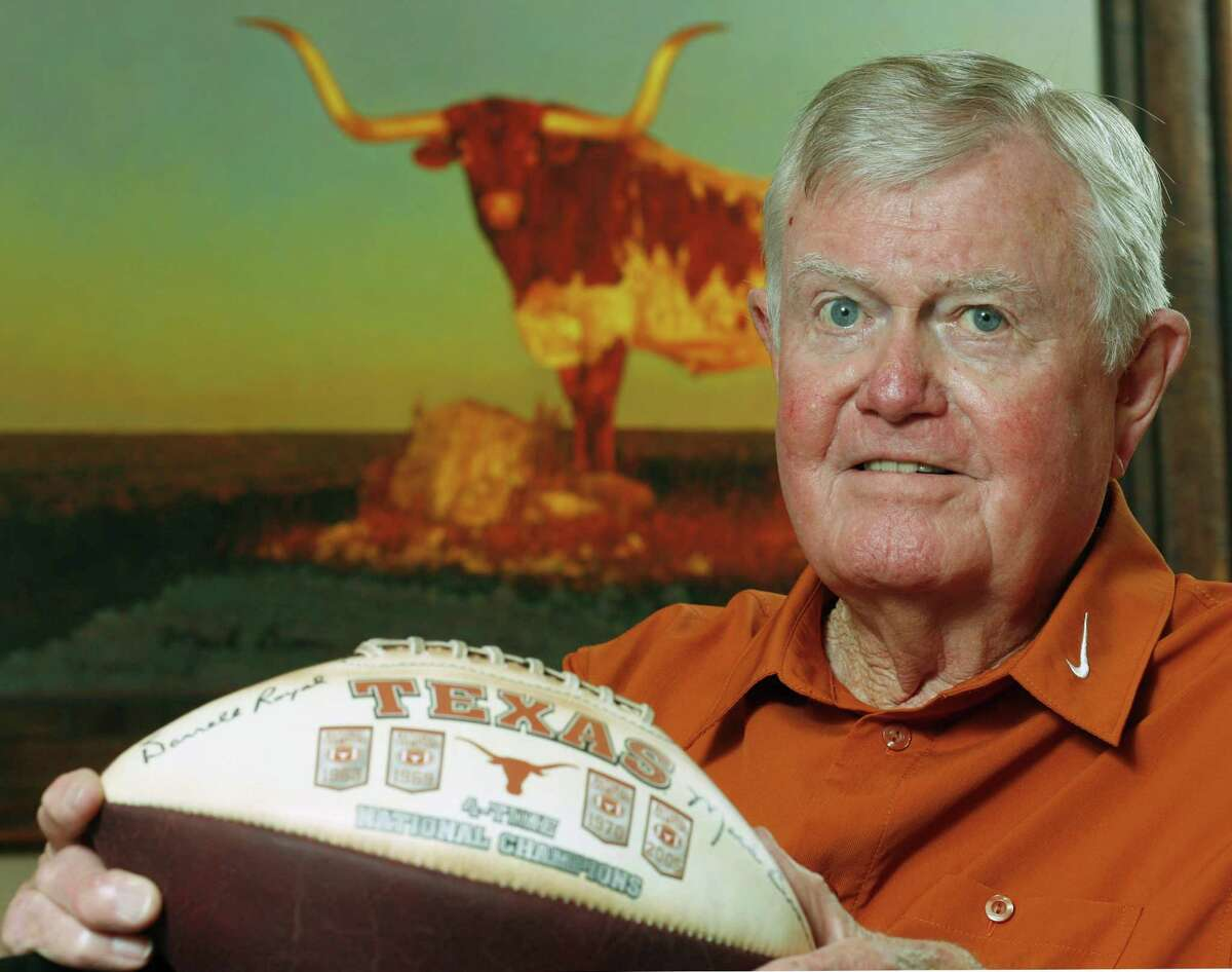 Although he grew up in Oklahoma, Darrell Royal, shown in 2007, was best known for turning the UT football program into a national power.