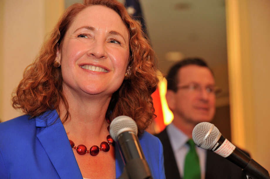 Elizabeth Esty gives her acceptance speech after defeating state Sen. Andrew Roraback for the 5th Congressional District at at the CoCo Key Water Resort Convention Center in Waterbury on Tuesday, Nov. 6, 2012. Photo: Jason Rearick / The News-Times