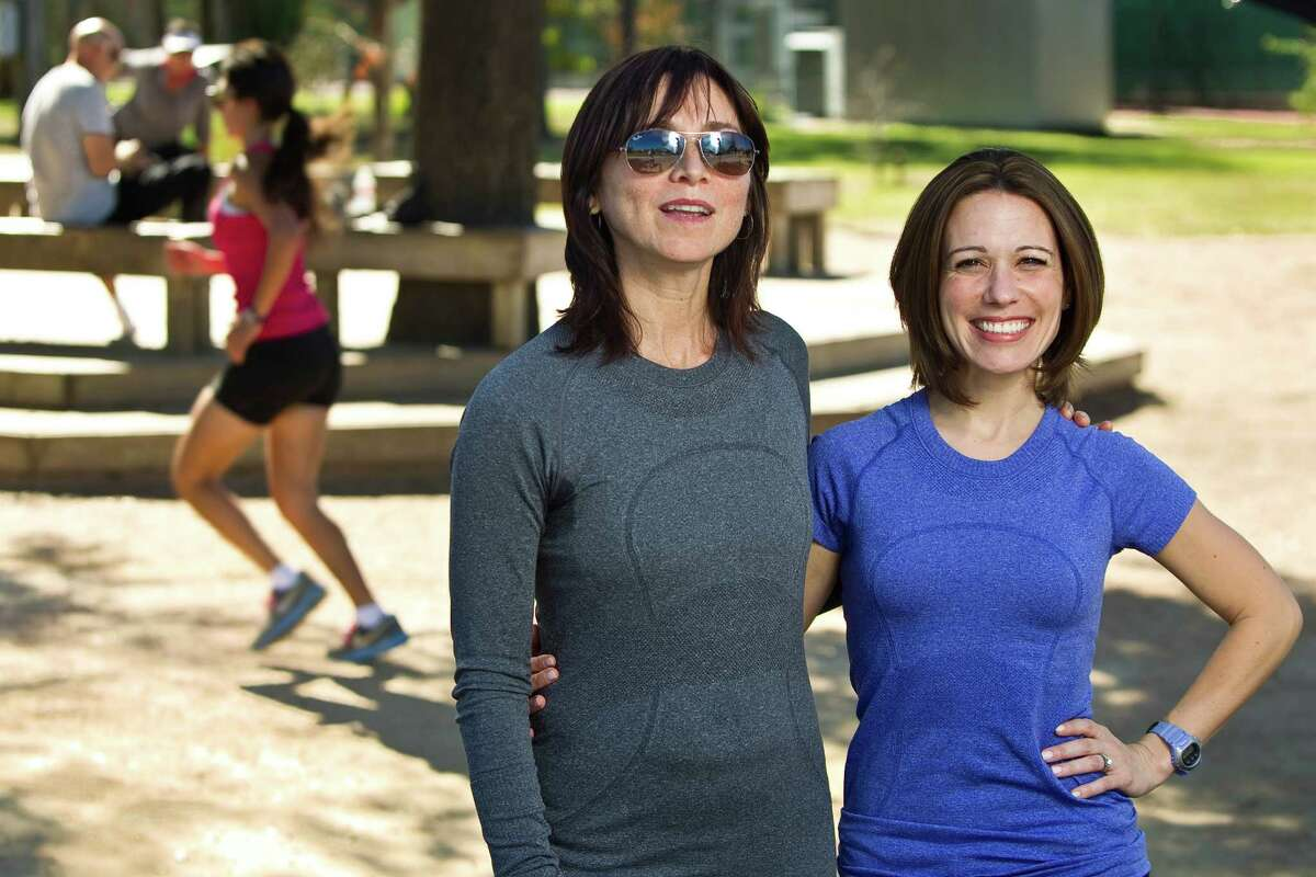 Paola Ferrari, left, and Bernie Tretta, are Houston runners who are launching a local chapter of an organization that pairs able-bodied and disabled athletes.