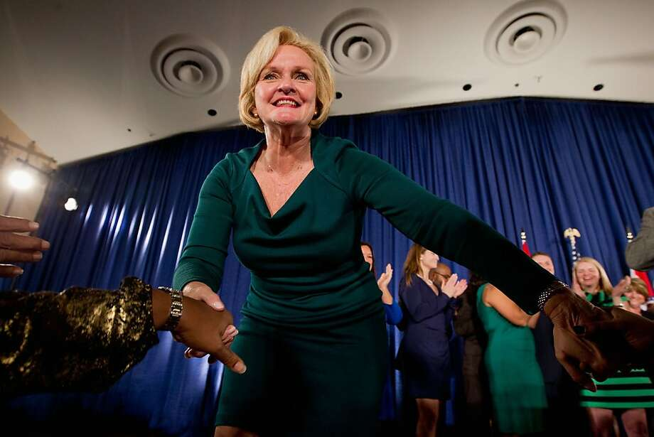 "Sen.-elect Claire McCaskill, D-Mo., was a longshot; then her opponent's comments about ""legitimate rape"" made headlines. Photo: Whitney Curtis, Getty Images"