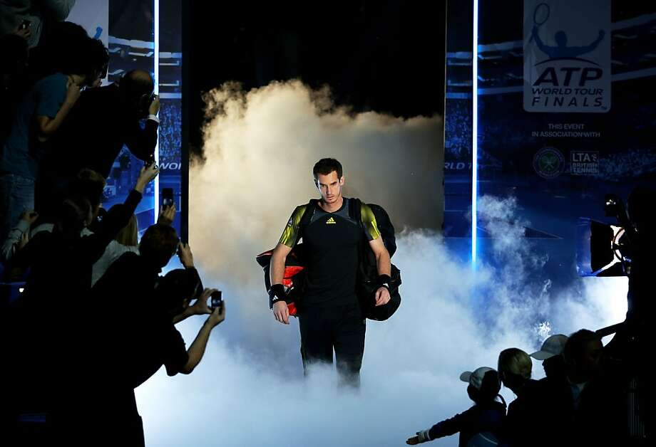 Andy Murray of Great Britain walks out onto court prior to the men's singles match against Novak Djokovic of Serbia on day three of the ATP World Tour Finals at the at O2 Arena on November 7, 2012 in London, England. Photo: Clive Brunskill, Getty Images