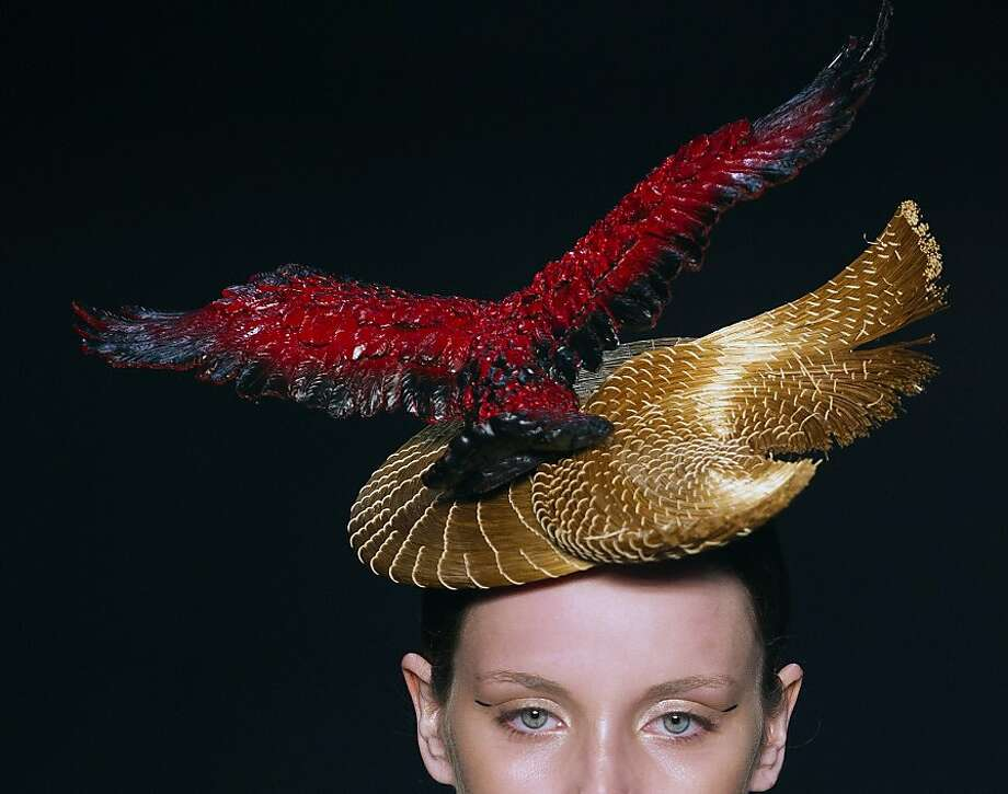 A model wears a creation from the Acquastudio winter collection during Fashion Rio, in Rio de Janeiro, Brazil, Wednesday, Nov. 7, 2012. Photo: Felipe Dana, Associated Press