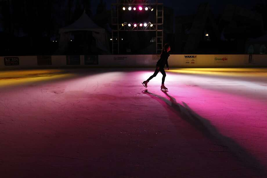 Rosaleen Chou skates on the ice at The Holiday Ice Rink which opened on Wednesday, November 7, 2012, at Justin Herman Plaza in San Francisco, Calif. Photo: Carlos Avila Gonzalez, The Chronicle