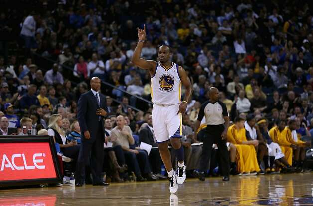 OAKLAND, CA - NOVEMBER 07: Carl Landry #7 of the Golden State Warriors reacts after he made a basket against the Cleveland Cavaliers at Oracle Arena on November 7, 2012 in Oakland, California.  NOTE TO USER: User expressly acknowledges and agrees that, by downloading and or using this photograph, User is consenting to the terms and conditions of the Getty Images License Agreement.  (Photo by Ezra Shaw/Getty Images) Photo: Ezra Shaw, Getty Images