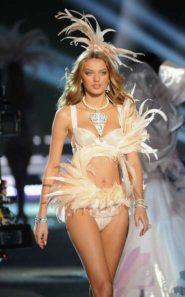 Model Bregje Heinen walks the runway.