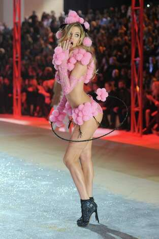 Victoria's Secret Angel Doutzen Kroes walks the runway. Photo: Jamie McCarthy, Getty Images / 2012 Getty Images
