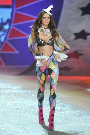 Model Barbara Fialho walks the runway. Photo: Jamie McCarthy, Getty Images / 2012 Getty Images