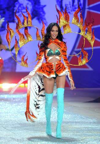 Model Joan Smalls walks the runway. Photo: Jamie McCarthy, Getty Images / 2012 Getty Images