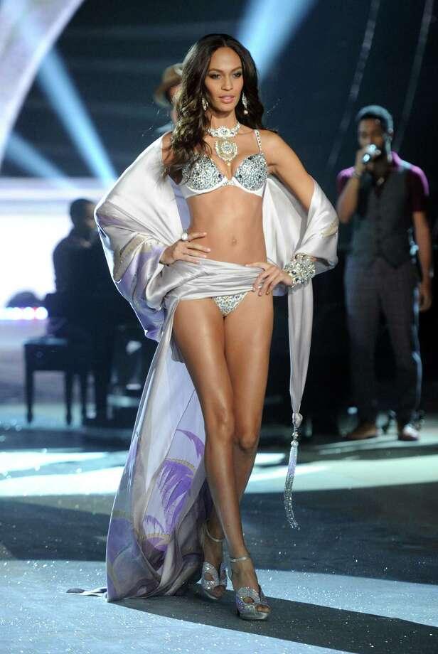 Model Joan Smalls walks the runway. Photo: Jamie McCarthy, Getty Images / 2012 Getty Images