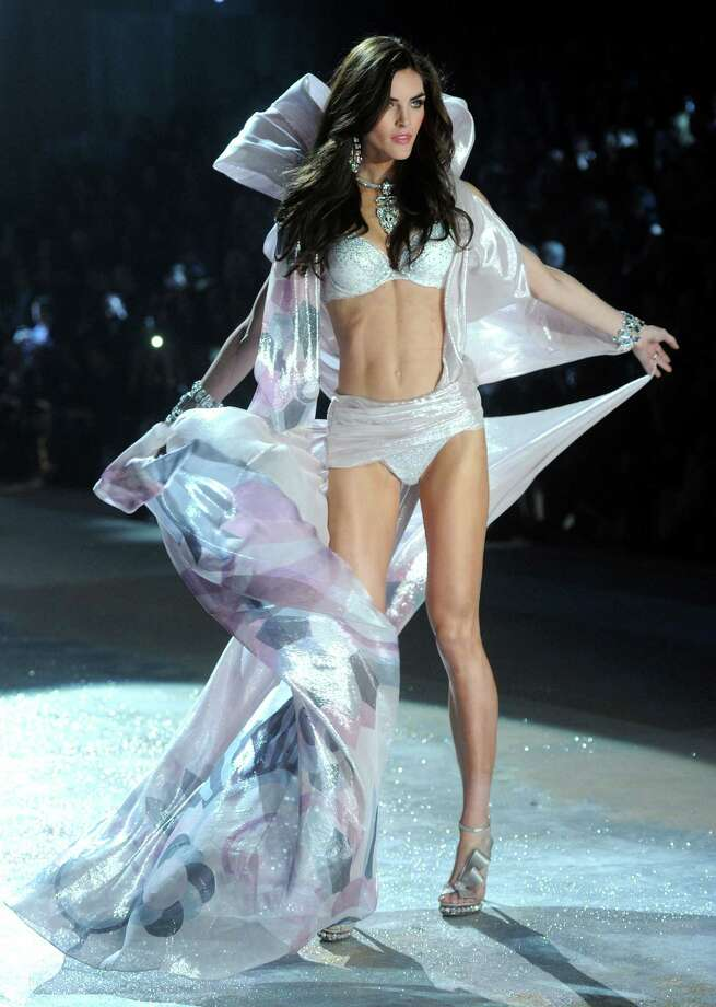 Model Hilary Rhoda walks the runway. Photo: Jamie McCarthy, Getty Images / 2012 Getty Images