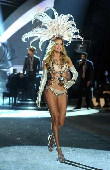Victoria's Secret Angel Doutzen Kroes walks the runway.