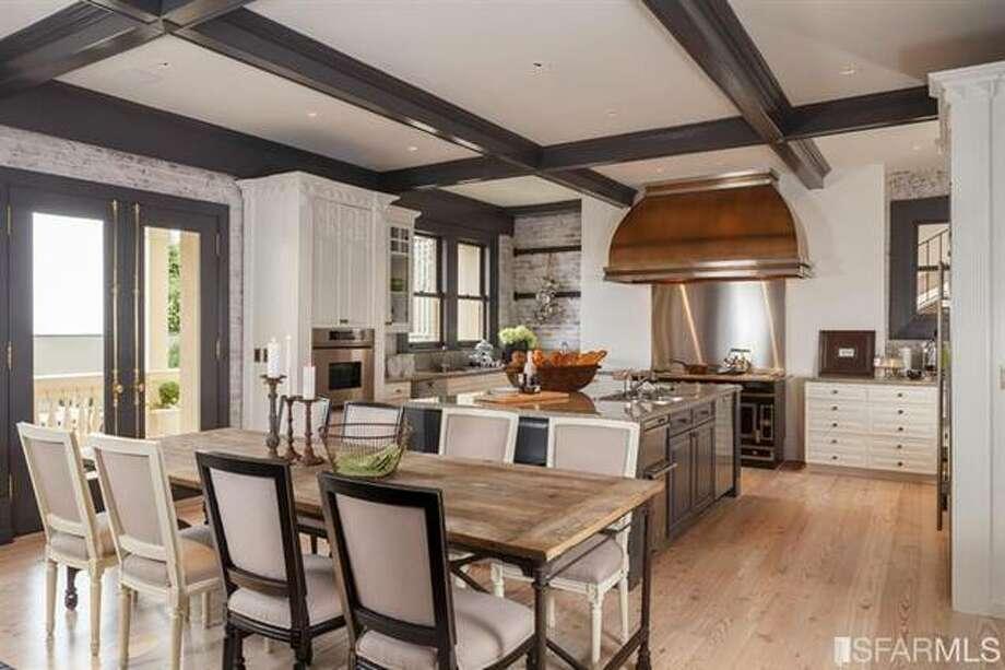 Main kitchen. Photo via SFMLS/Sotheby's International.