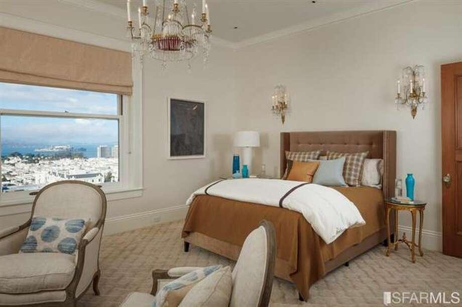 One of 5 bedrooms. Photo via SFMLS/Sotheby's International.