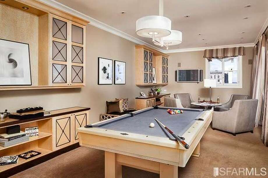 Relaxing in the pool room! Photo via SFMLS/Sotheby's International.