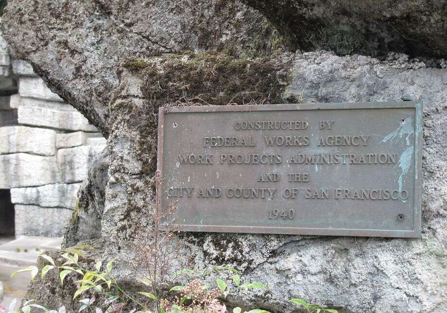 I was stoked to find this WPA sign still on the bear grotto wall.  (Peter Hartlaub / The Chronicle)