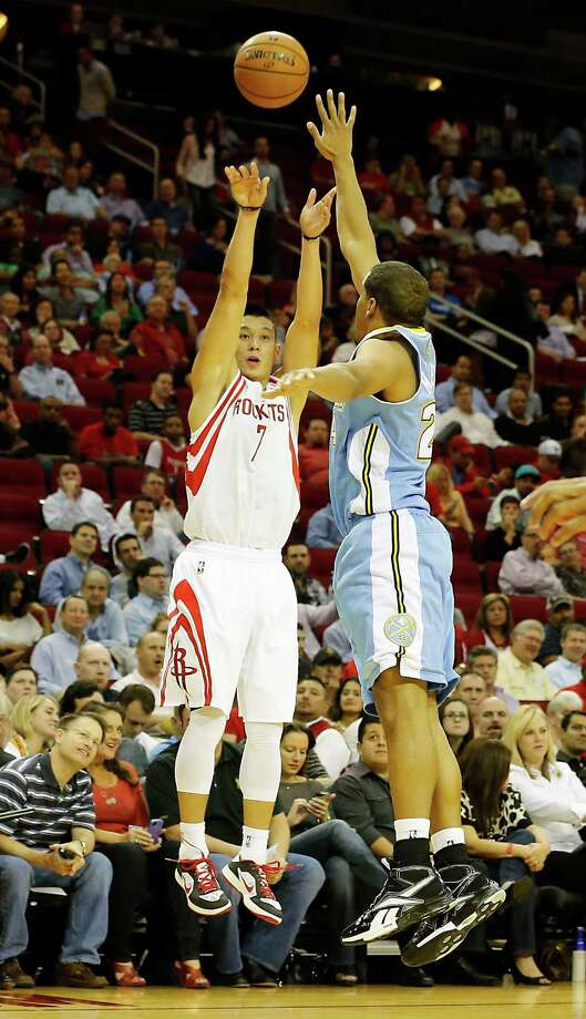 The Houston Rockets the Denver Nuggets during the quarter of NBA game action at the Toyota Center Wednesday, Nov. 7, 2012, in Houston. Photo: James Nielsen, Chronicle / © Houston Chronicle 2012