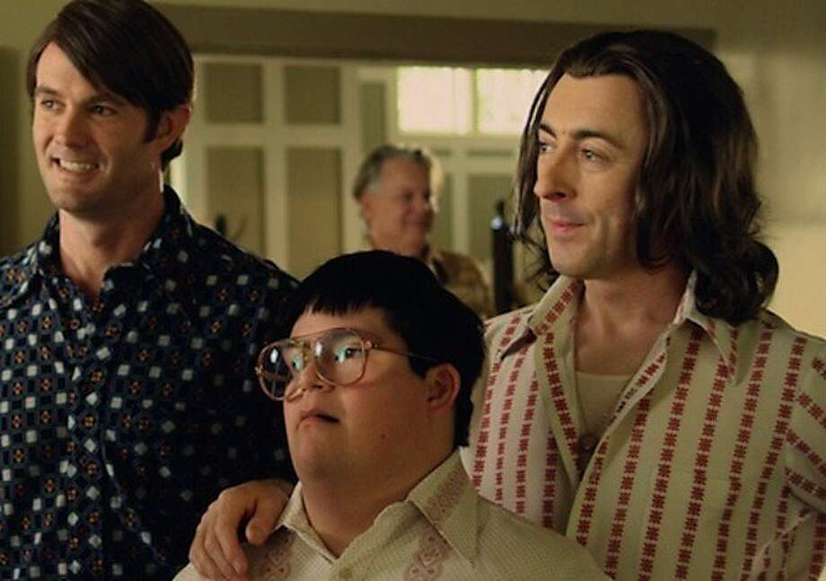 "Garret Dillahunt (left), newcomer Isaac Leyva and Alan Cumming star in ""Any Day Now,"" about a gay couple who take in a teenager with Down syndrome, but must fight for their rights in the legal system. Photo: Music Box Films"