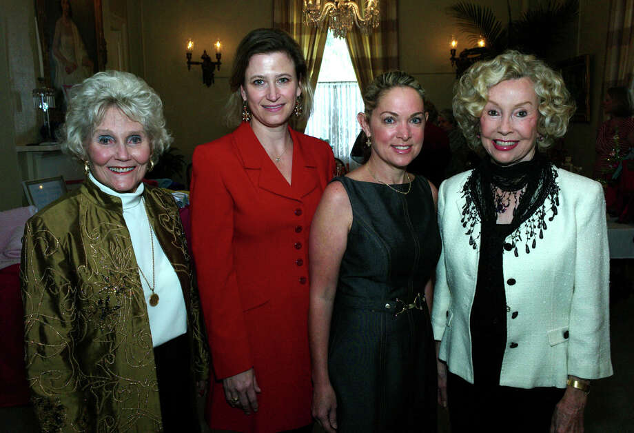 OTS/HEIDBRINK - Gardenia & Musical Club president Rose Marie Banack, from left, event chairwomen Melissa Rubiola, Andrea Olson and vice president DeeAnn Simpson gather at the Harvest Fun and Friendship event at the Argyle on 11/2/2012. names checked photo by leland a. outz Photo: LELAND A. OUTZ, SPECIAL TO THE EXPRESS-NEWS / SAN ANTONIO EXPRESS-NEWS