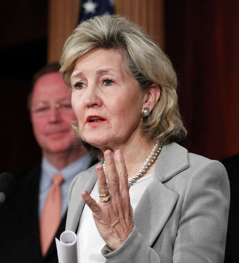 Sen. Kay Bailey Hutchison gestures during a news conference  on Capitol Hill in Washington, Thursday, Nov. 3, 2011. Photo: Manuel Balce Ceneta, Associated Press / AP