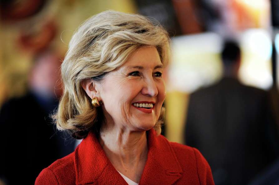 Sen. Kay Bailey Hutchison, a gubernatorial candidate in Texas, greets well wishers during a campaign