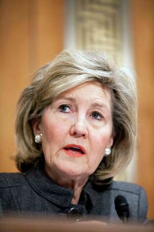 Senator Kay Bailey Hutchison speaks during a Senate Banking Committee vote on the nomination of Ben S. Bernanke for a second term as chairman of the U.S. Federal Reserve in Washington, D.C., on Thursday, Dec. 17, 2009. Photo: Brendan Hoffman, Bloomberg
