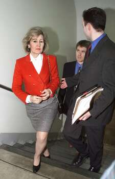 Sen. Kay Bailey Hutchison walks through the Capitol, Saturday, Jan. 16, 1999, during a break in the Senate impeachment trial of President Clinton. Photo: J. SCOTT APPLEWHITE, AP / AP