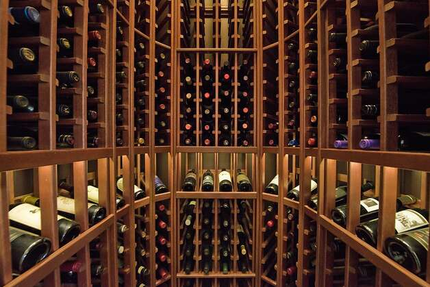 Off the dining room, there's a 500-bottle wine closet. Photo: Devin MacDonald, Tppsf.com