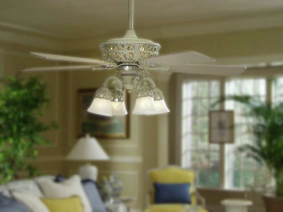 Add ceiling fans and portable fans to help circulate the air and cut down on air conditioner use. Photo: COURTESY LOWE'S HOME IMPROVEMENT