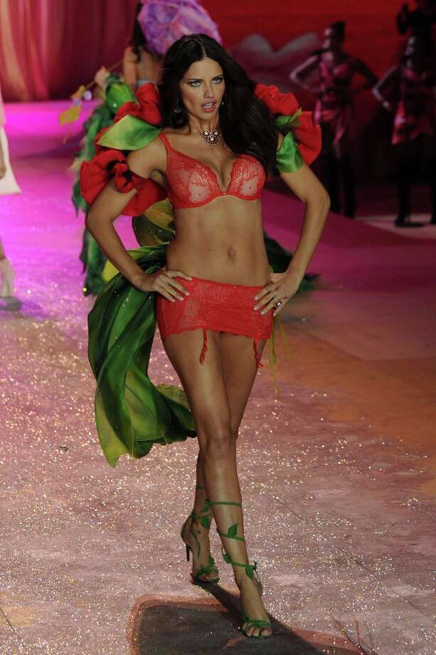 Victoria's Secret Angel Adriana Lima walks the runway during the Victoria's Secret 2012 Fashion Show on November 7, 2012 in New York City.  (Photo by Bryan Bedder/Getty Images for SWAROVSKI ELEMENTS) Photo: Bryan Bedder, Getty Images For SWAROVSKI ELEME / 2012 Getty Images