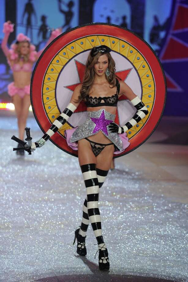Karlie Kloss walks the runway during the Victoria's Secret 2012 Fashion Show on November 7, 2012 in New York City.  (Photo by Bryan Bedder/Getty Images for SWAROVSKI ELEMENTS) Photo: Bryan Bedder, Getty Images For SWAROVSKI ELEME / 2012 Getty Images