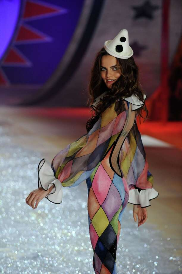Model Barbara Fialho  walks the runway during the Victoria's Secret 2012 Fashion Show on November 7, 2012 in New York City.  (Photo by Bryan Bedder/Getty Images for SWAROVSKI ELEMENTS) Photo: Bryan Bedder, Getty Images For SWAROVSKI ELEME / 2012 Getty Images