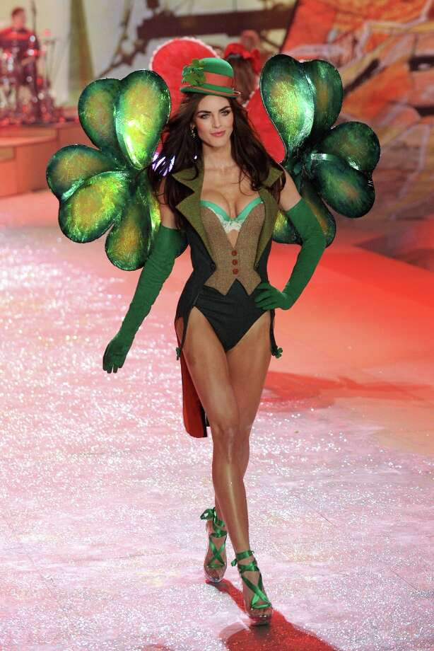 Model Hilary Rhoda walks the runway during the Victoria's Secret 2012 Fashion Show on November 7, 2012 in New York City.  (Photo by Bryan Bedder/Getty Images for SWAROVSKI ELEMENTS) Photo: Bryan Bedder, Getty Images For SWAROVSKI ELEME / 2012 Getty Images
