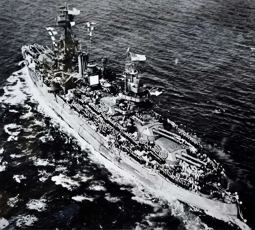 This is a photo of the USS Texas, the ship Mike Scepanski, 93, served on in the U.S. Navy. Photo: Michael Duffy / The News-Times