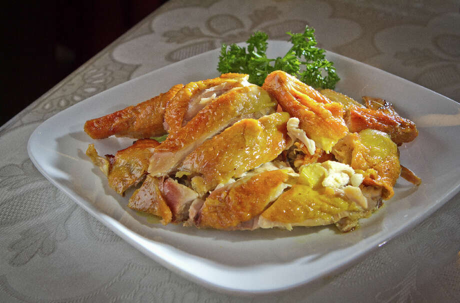 The Salt-Baked Chicken at Hakka. Photo: John Storey, Special To The Chronicle / John Storey