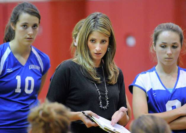 Fairfield Ludlowe High School girls volleyball coach Meghan Skelton. Photo: Bob Luckey / Greenwich Time