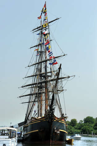 HMS Bounty docked at Captain's Cove, in Bridgeport, Conn. Aug. 17th, 2012. Photo: Ned Gerard / Connecticut Post