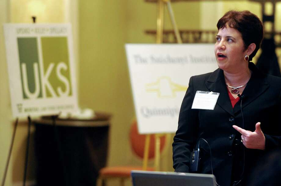 Beatriz Gutierrez of the Department of Economic and Community Development speaks on a panel during the Central and Eastern European Network session at the Marriott hotel in Stamford, Conn., on Thursday, November 8, 2012. Photo: Lindsay Niegelberg / Stamford Advocate