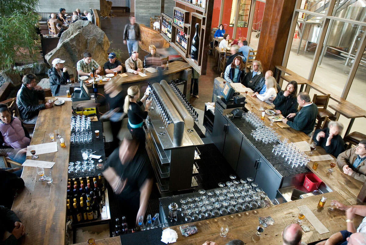 The Stone Brewing Co.'s bistro bustles on weekends.