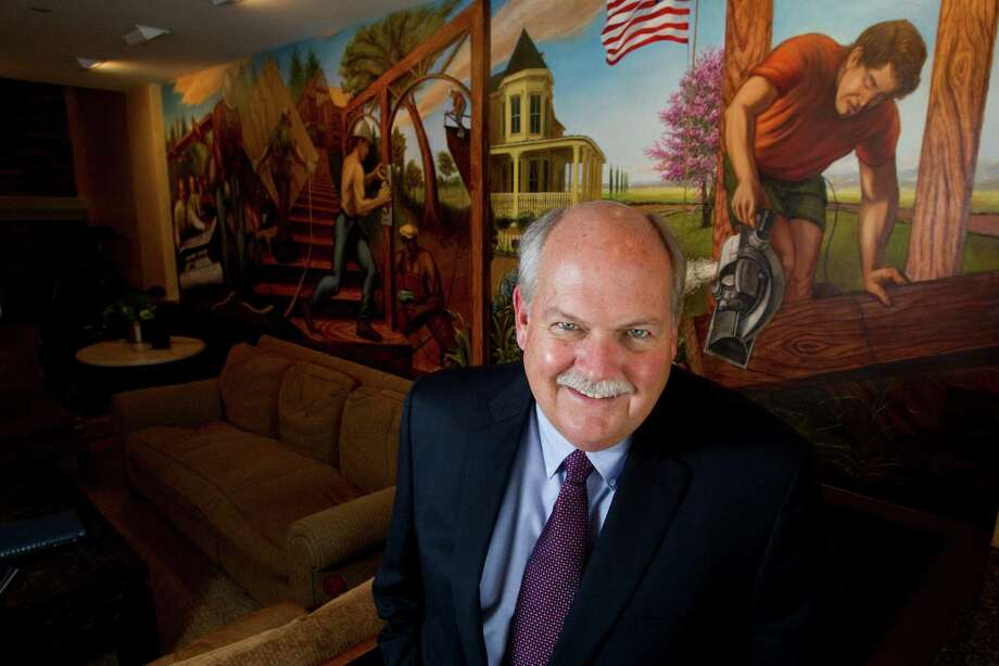 David Weekley poses for a portrait at the offices of David Weekley Homes Tuesday, Oct. 2, 2012, in Houston. ( Brett Coomer / Houston Chronicle ) Photo: Brett Coomer, Houston Chronicle / © 2012 Houston Chronicle